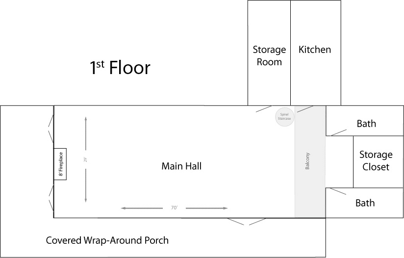 The Longhouse First Floor Plans